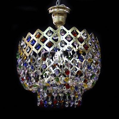 Корона 1 лампа Цветная