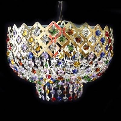 Корона 1 лампа Цветная с зеркалом