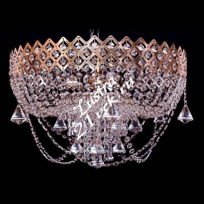 Корона 5 ламп № 2 с зеркалом