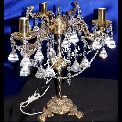 Настольная лампа Бронза 3 - 5 ламп Конус