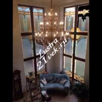 Люстра Бронза 30 ламп в интерьере
