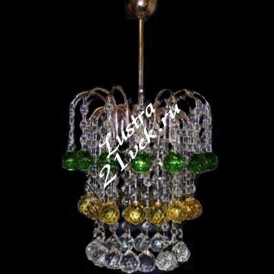 Зима 1 лампа Шары